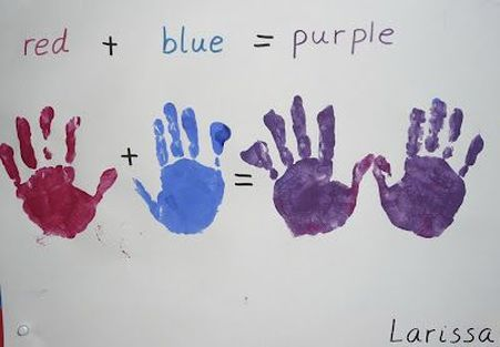 color mixing with hands