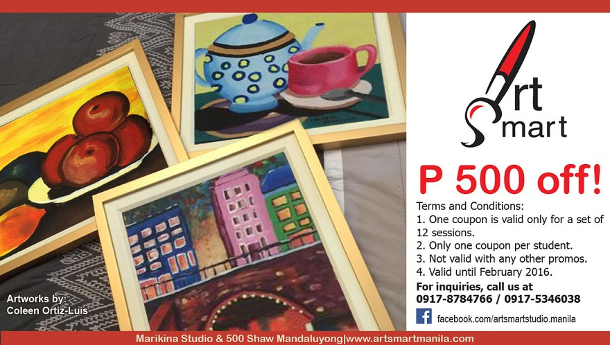 Save PHP 500 on our 12-Session Art Classes